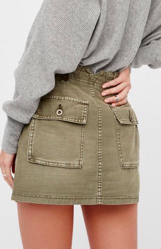 FP High Waist Military Skirt