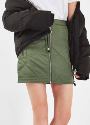Topshop Quilted Bomber Skirt