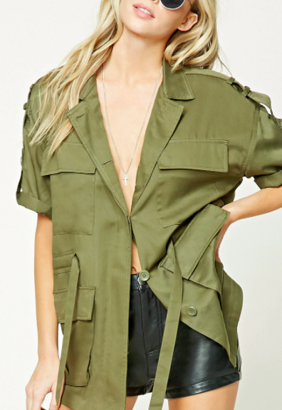 Forever 21 Notched Collar Utility Jacket