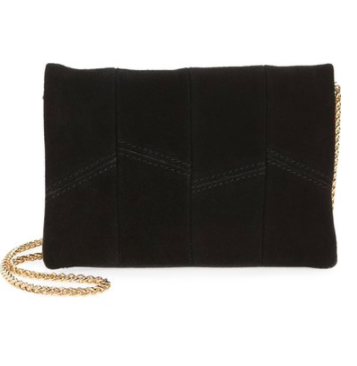 Street Level Suede & Faux Leather Crossbody Bag