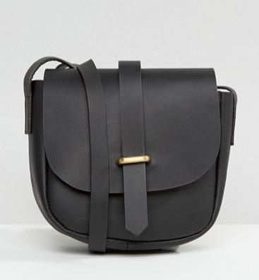 ASOS Clean Leather Saddle Bag