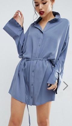 ASOS Shirt Dress with Oversized Cuff
