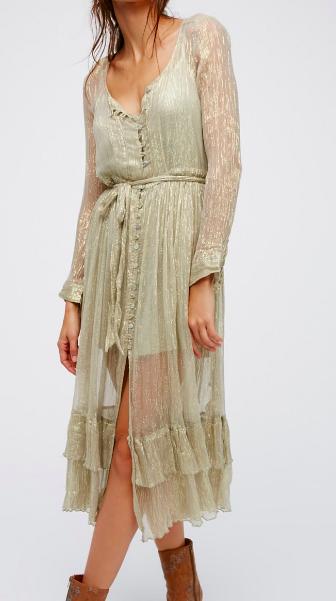 FP Shine Maxi Shirt Dress