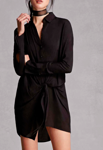 Forever 21 Wrap-Front Shirt Dress
