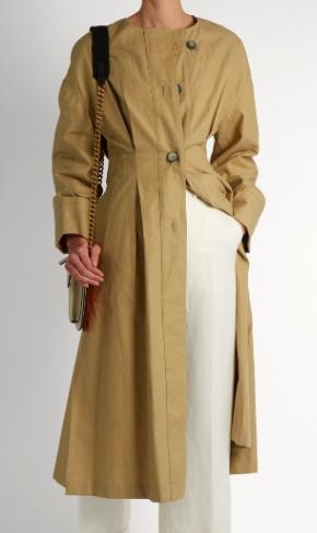 ISABEL MARANT  Slater cotton and linen-blend trench coat