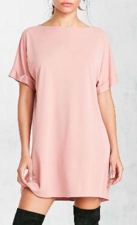 Silence + Noise Cupro Boat-Neck T-Shirt Dress