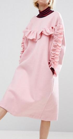 STYLENANDA Frill Detail Smock Dress