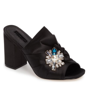 Topshop Regal Brooch Embellished Mule