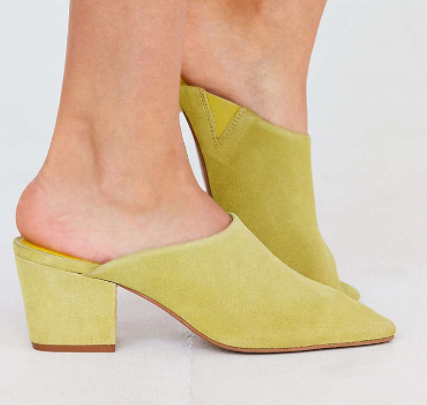 Becky Suede Pointy Toe Mule