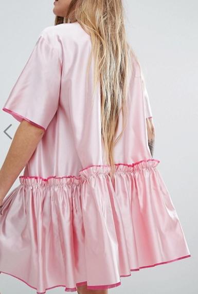 Reclaimed Vintage Drop Waist Smock Dress