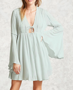 Forever 21 Contemporary Bell Sleeve Dress