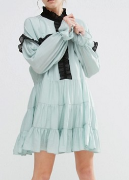 Sister Jane Ruffle Detail Smock Dress