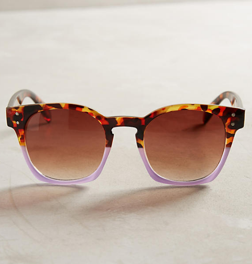 Anthropologie Dipped Tortoise Sunglasses