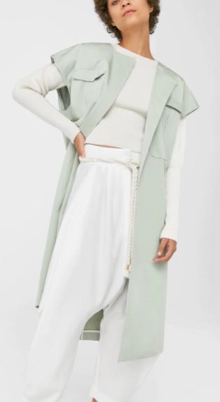 Mango Side-pocket cotton waistcoat