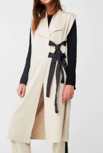 Mango Laces cotton waistcoat