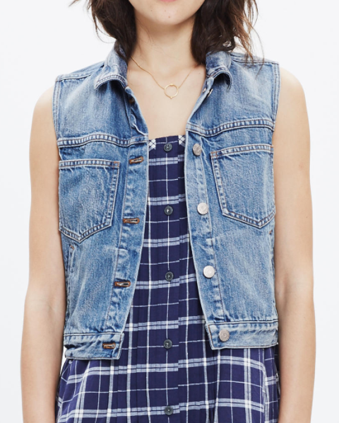 Madewell the pocket jean vest