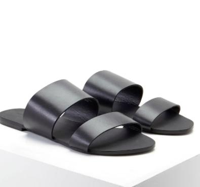 Forever 21 Genuine Leather Slides