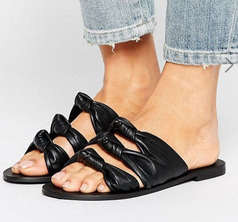 ASOS FAVORITE Leather Knot Sliders
