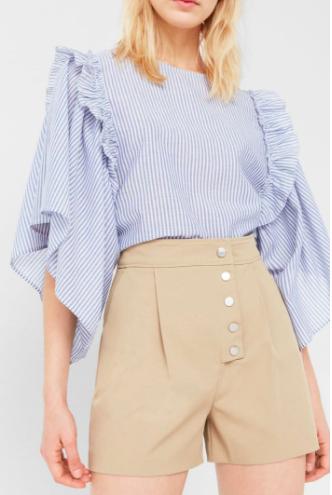 Mango Ruffle cotton blouse