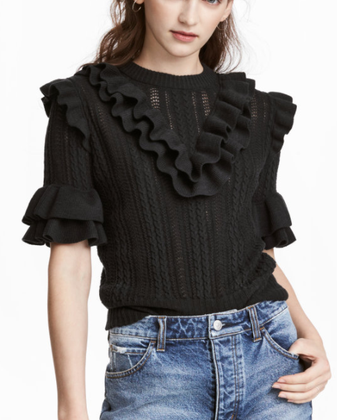 HM Textured-knit Sweater