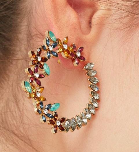 Mango Hoop flower earrings