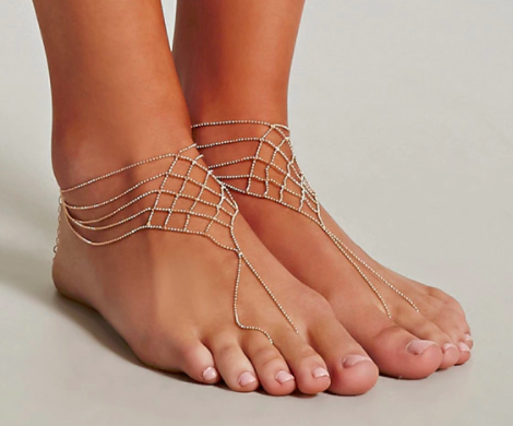 Forever 21 Beaded Foot Chain Set
