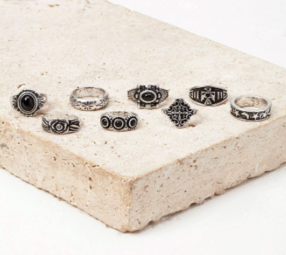 Forever 21 Faux Stone Ring Set