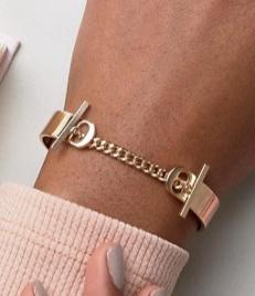ASOS Toggle Chain Cuff Bracelet