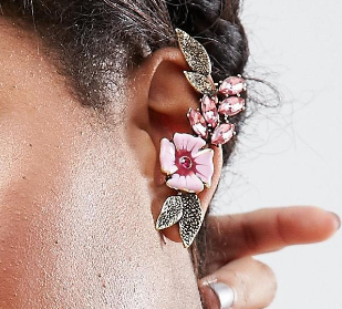 ASOS Pretty Flower Ear Cuffs
