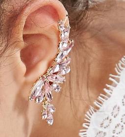 ASOS Statement Crystal Ear Climbers