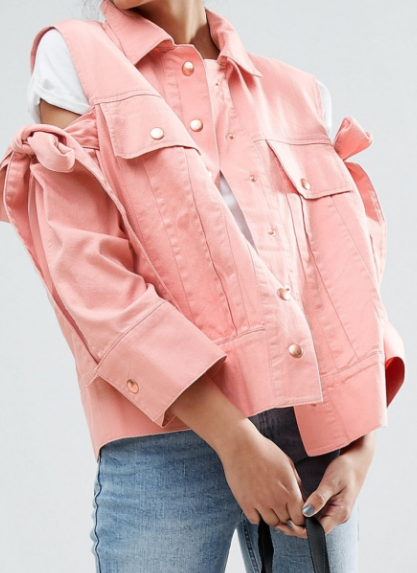 ASOS TALL Jacket with Bow Cold Shoulder