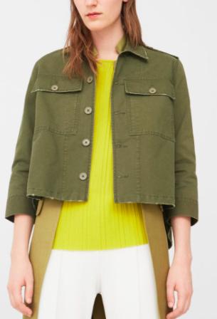mango pocket cotton jacket