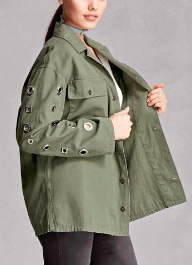Twelve Grommet-Sleeve Jacket
