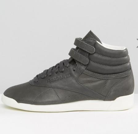 Reebok X Face Freestyle Hi Top Sneakers In Slate