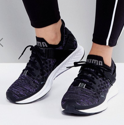 Puma Ignite 3 Evoknit Low Sneakers In Black