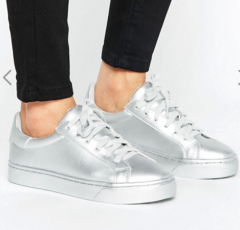 New Look Metallic Lace Up Sneaker