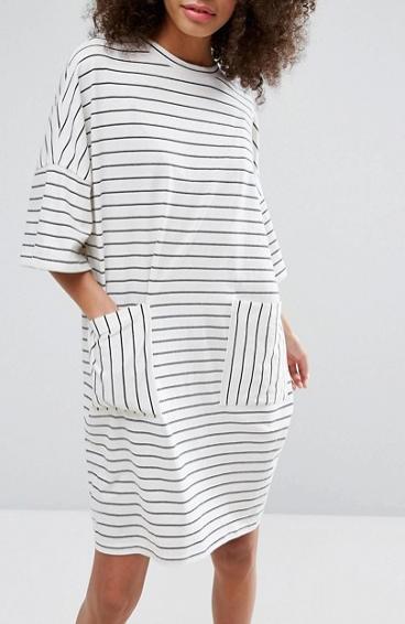 Monki Stripe T-Shirt Dress