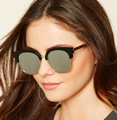Forever 21 Mirrored Browline Sunglasses