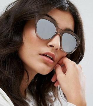 Le Specs Half Moon Magin Sunglasses with Silver Flash Mirror