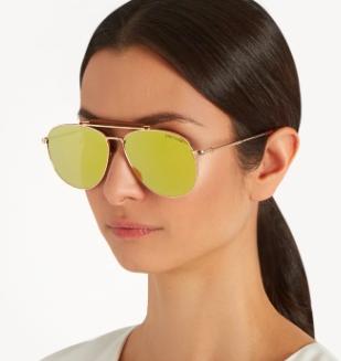 TOM FORD EYEWEAR  Sean mirrored aviator sunglasses