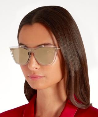 VALENTINO  Rockstud-embellished D-frame sunglasses