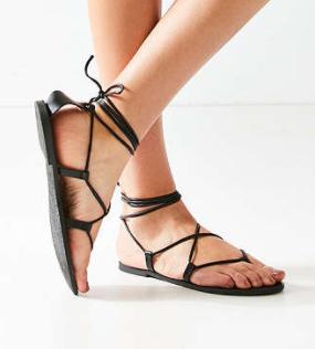 UO Leather Gladiator Sandal