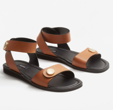 Mango Studded leather sandals