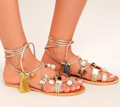 Rambel Embellished Gladiator Sandal STEVE MADDEN