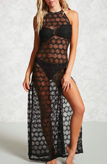 Forever 21 Lace Halter Cover-Up Dress