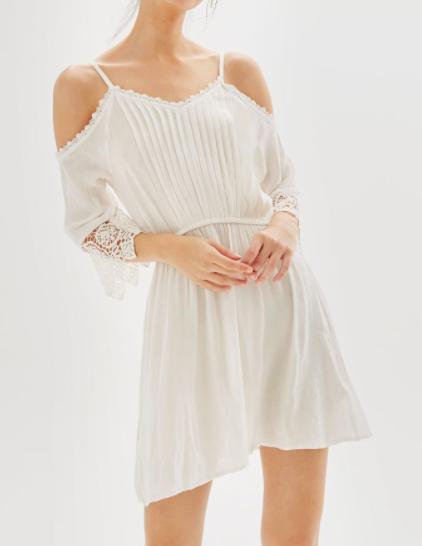 Topshop Cold Shoulder Beach Dress