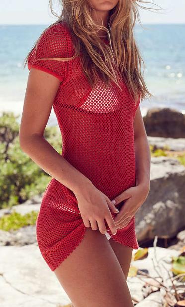 BDG Uma Fishnet T-Shirt Dress