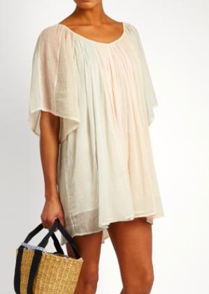 MES DEMOISELLES  Rosace striped cotton-gauze dress