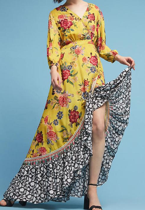 Farm Rio Sunlit Floral Maxi Dress