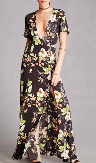 Forever 21 Nightwalker Floral Maxi Dress